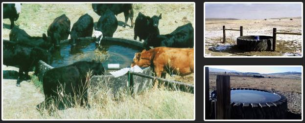 Recycled Tire Water Tanks For Cattle Drip Well System