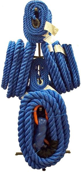 Photo of blue rope
